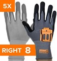 Afbeelding van Standard 5 Pairs Pack - Right Hand Size 8